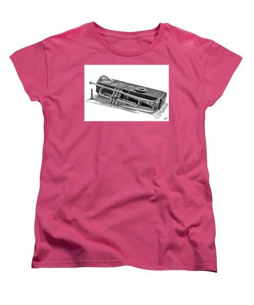 Women's T-Shirt (Standard Cut) featuring the photograph Old Trumpet by Walt Foegelle