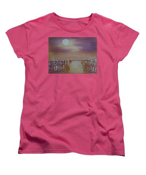 Olde Tyme Pumpkin Patch And Maze Women's T-Shirt (Standard Cut) by Sharyn Winters