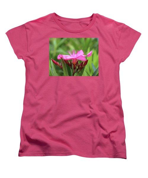 Women's T-Shirt (Standard Cut) featuring the photograph Oleander Professor Parlatore 1 by Wilhelm Hufnagl