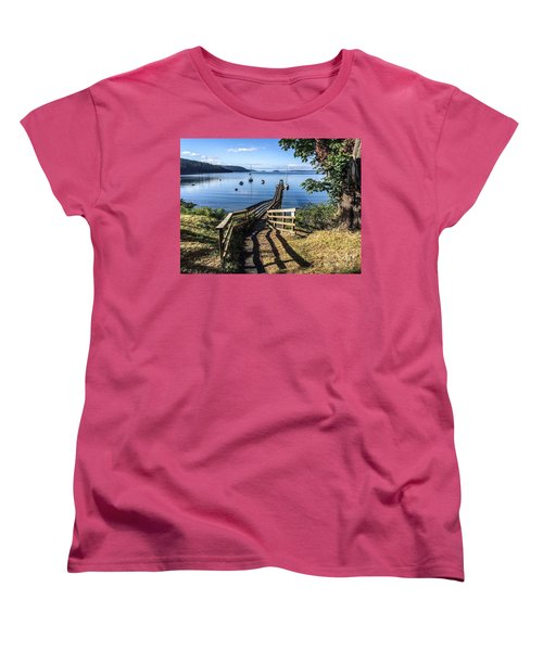 Women's T-Shirt (Standard Cut) featuring the photograph Olga Pier by William Wyckoff