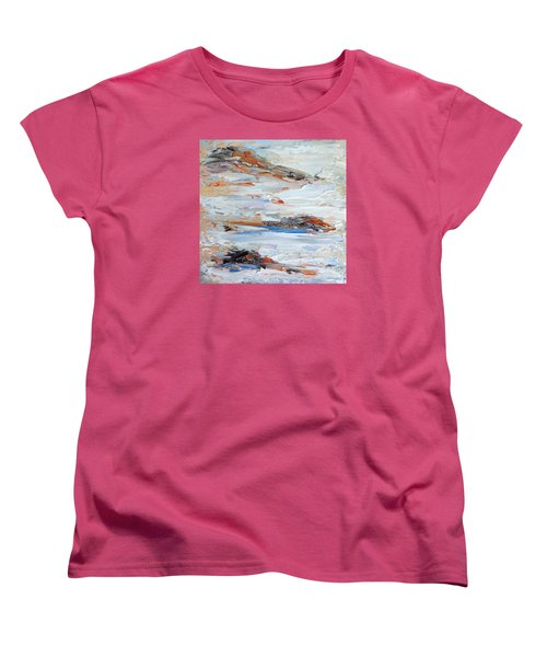 Women's T-Shirt (Standard Cut) featuring the painting On Da Rocks by Fred Wilson
