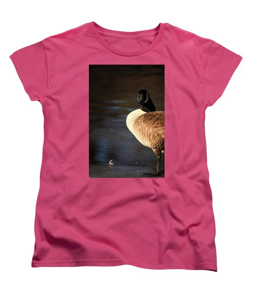 Women's T-Shirt (Standard Cut) featuring the photograph On Ice by Karol Livote