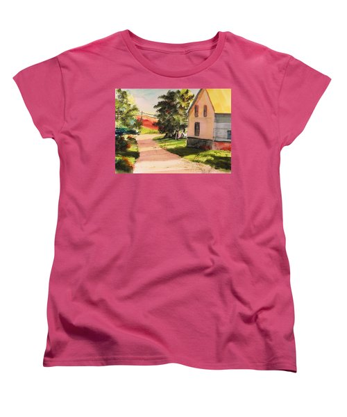 Women's T-Shirt (Standard Cut) featuring the painting On The Line by John Williams