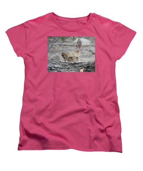 Women's T-Shirt (Standard Cut) featuring the photograph On The Lookout by Betty-Anne McDonald