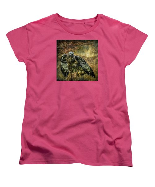 Women's T-Shirt (Standard Cut) featuring the photograph On The Lookout by Brian Tarr