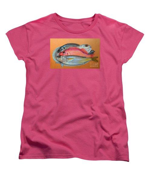 On The Platter Women's T-Shirt (Standard Cut) by Jasna Dragun
