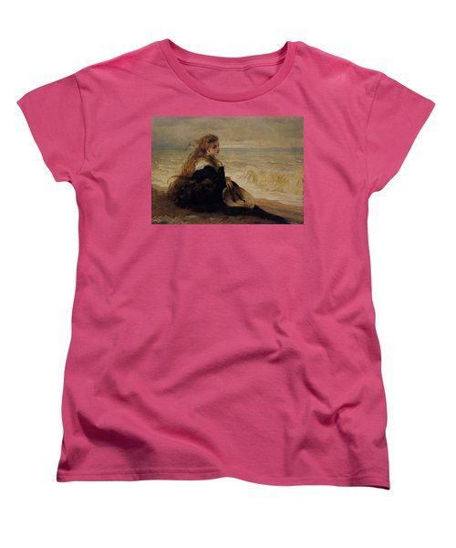 On The Seashore Women's T-Shirt (Standard Cut) by George Elgar Hicks