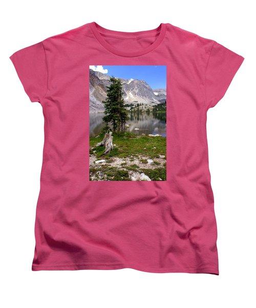 On The Snowy Mountain Loop Women's T-Shirt (Standard Cut) by Marty Koch