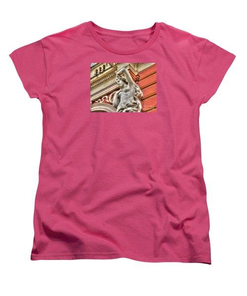 On The Wall Sit Women's T-Shirt (Standard Cut) by Yury Bashkin