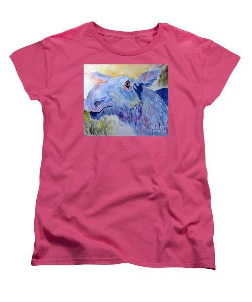 Once In A Blue Moose Women's T-Shirt (Standard Cut) by Sandy McIntire