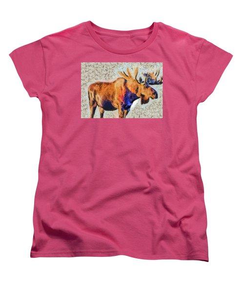 One Handsome Moose Women's T-Shirt (Standard Cut)