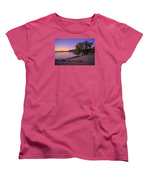 One Morning At The Lake Women's T-Shirt (Standard Cut) by Ken Stanback