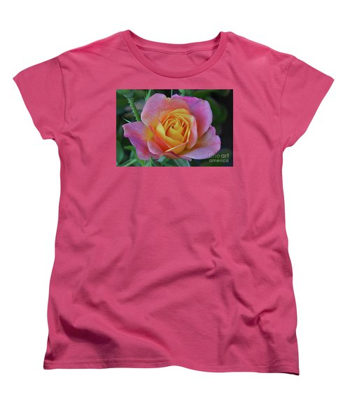 One Of Several Roses Women's T-Shirt (Standard Cut) by Debby Pueschel