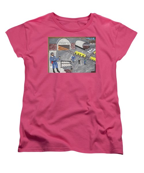 Women's T-Shirt (Standard Cut) featuring the painting Onieda Coal Mine by Jeffrey Koss