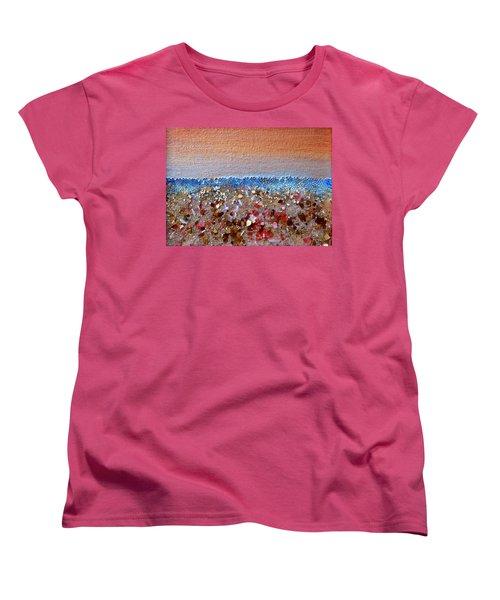 Opal Beach Women's T-Shirt (Standard Cut) by Regina Valluzzi