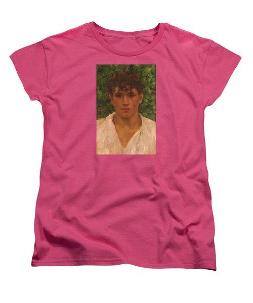 Open Collar Women's T-Shirt (Standard Cut) by Henry Scott Tuke