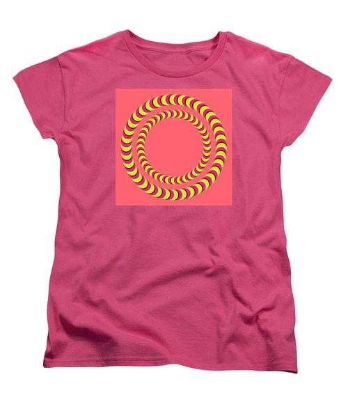 Optical Illusion Circle In Circle Women's T-Shirt (Standard Cut) by Sumit Mehndiratta