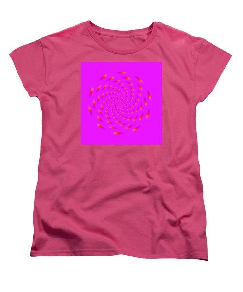 Optical Illusion Spinning Circle Women's T-Shirt (Standard Cut) by Sumit Mehndiratta