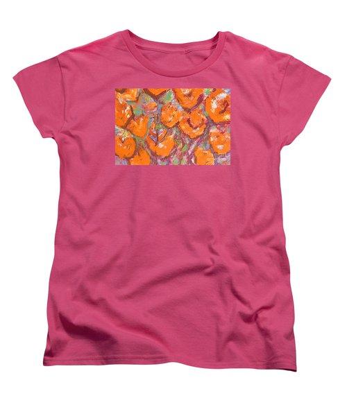 Orange Poppies Women's T-Shirt (Standard Cut) by Gallery Messina