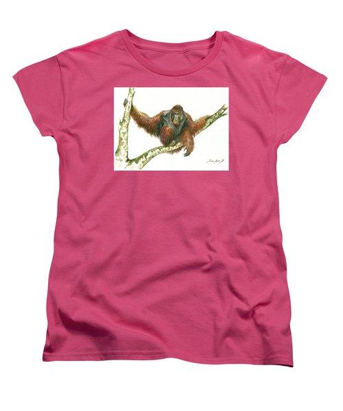 Orangutang Women's T-Shirt (Standard Cut) by Juan Bosco
