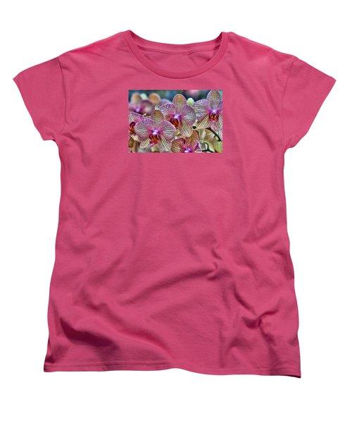 Orchid Melody Women's T-Shirt (Standard Cut) by Nadia Sanowar