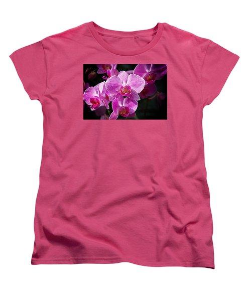 Orchids 4 Women's T-Shirt (Standard Cut) by Karen McKenzie McAdoo