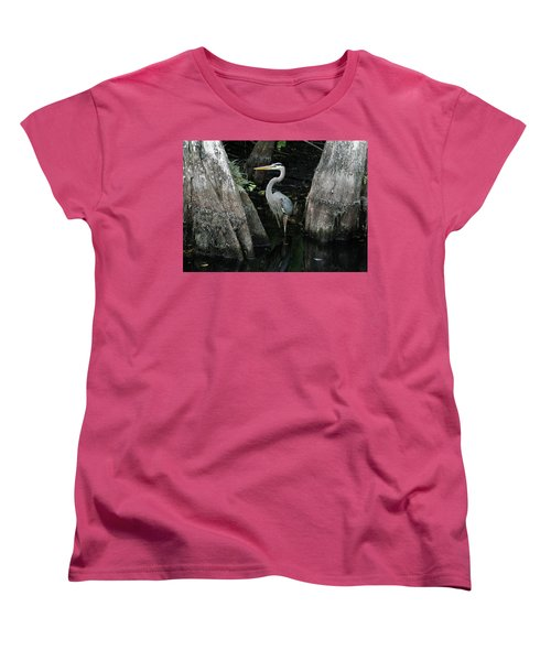 Out Standing In The Swamp Women's T-Shirt (Standard Cut) by Lamarre Labadie
