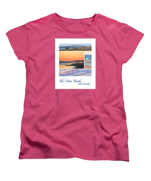 Outer Banks North Carolina Women's T-Shirt (Standard Cut) by Joni Eskridge