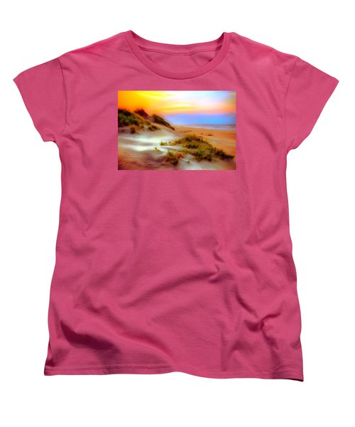 Outer Banks Soft Dune Sunrise Ap Women's T-Shirt (Standard Cut) by Dan Carmichael