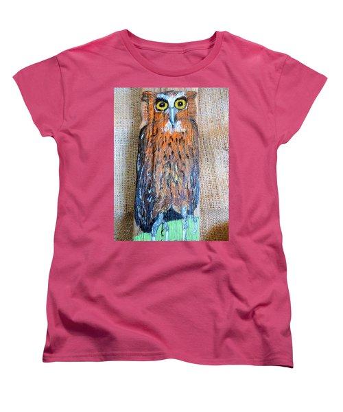 Owl Women's T-Shirt (Standard Cut) by Ann Michelle Swadener