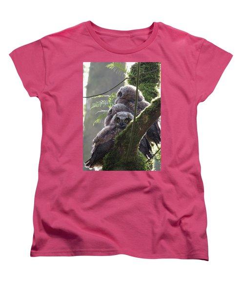 Owl Morning Women's T-Shirt (Standard Cut) by I'ina Van Lawick