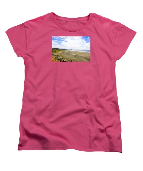 Pacific Coast California Women's T-Shirt (Standard Cut) by Chris Smith