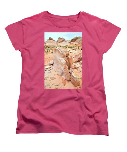 Women's T-Shirt (Standard Cut) featuring the photograph Pages Of Stone In Valley Of Fire by Ray Mathis