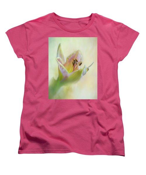 Painted Daylily Women's T-Shirt (Standard Cut) by David and Carol Kelly