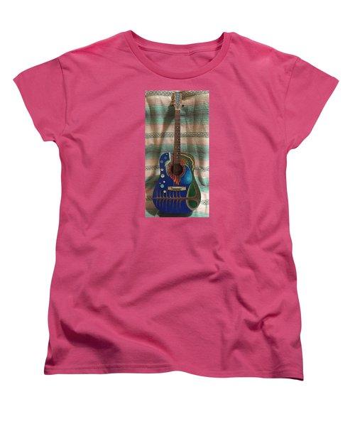 Painted Guitar Women's T-Shirt (Standard Cut) by Steve  Hester
