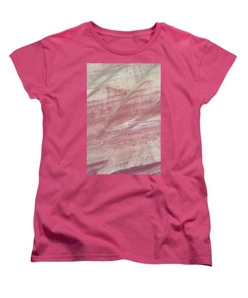 Women's T-Shirt (Standard Cut) featuring the photograph Painted Hills Textures 1 by Leland D Howard