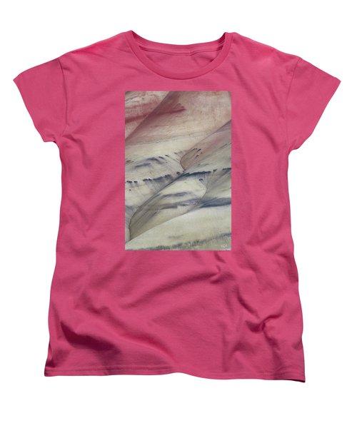 Women's T-Shirt (Standard Cut) featuring the photograph Painted Hills Textures 2 by Leland D Howard
