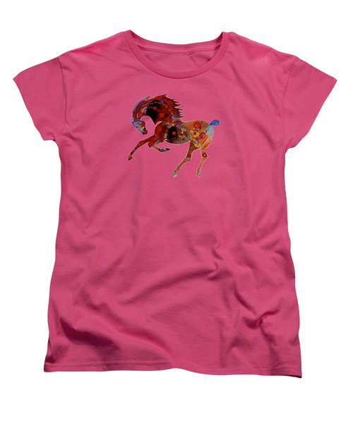 Painted Horse 3 Women's T-Shirt (Standard Cut) by Mary Armstrong