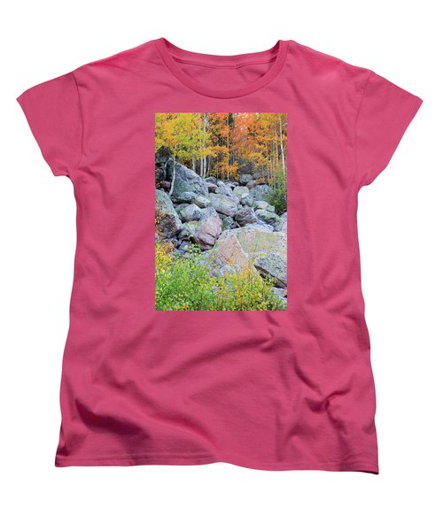 Women's T-Shirt (Standard Cut) featuring the photograph Painted Rocks by David Chandler