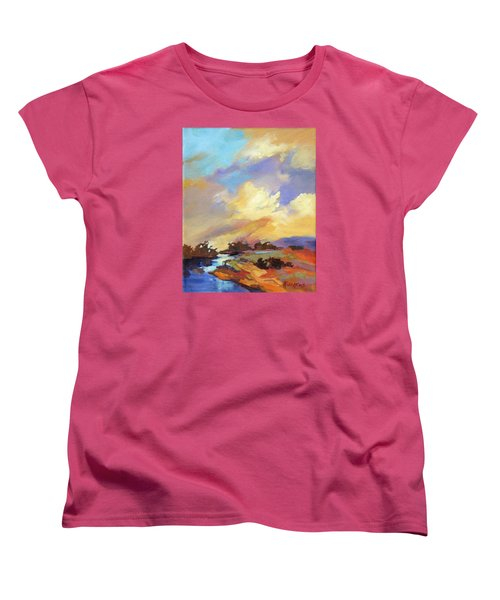 Women's T-Shirt (Standard Cut) featuring the painting Painted Sky by Rae Andrews