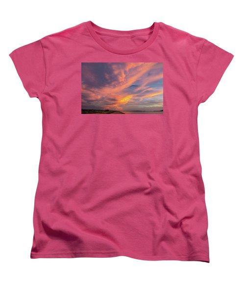 Painting By Sun Women's T-Shirt (Standard Cut) by Hyuntae Kim