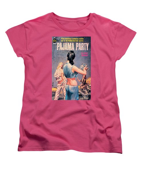 Women's T-Shirt (Standard Cut) featuring the painting Pajama Party by Paul Rader