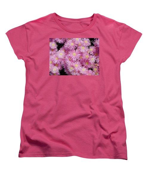 Pale Pink Flowers Women's T-Shirt (Standard Cut) by Mark Barclay