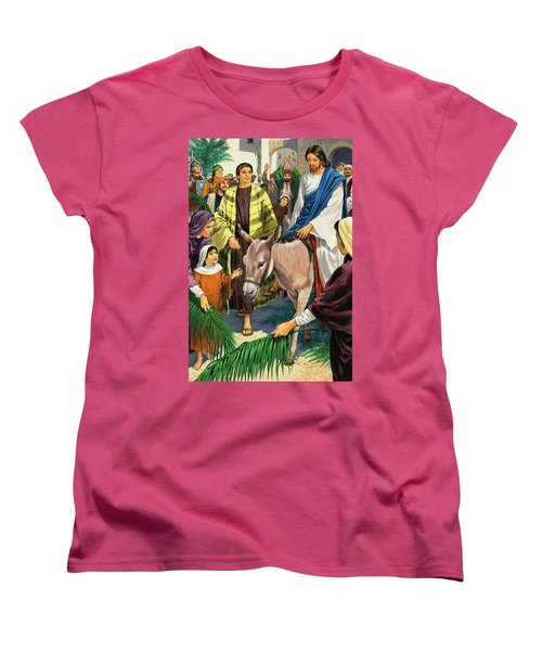 Palm Sunday Women's T-Shirt (Standard Cut) by Clive Uptton