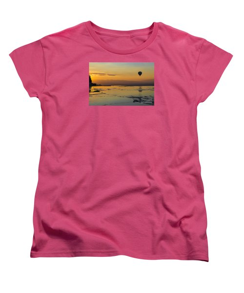 Women's T-Shirt (Standard Cut) featuring the photograph Pammukale Sunset by Yuri Santin