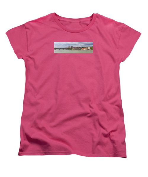 Women's T-Shirt (Standard Cut) featuring the photograph Panorama Of The Hydroelectric Power Station In Toulouse by Semmick Photo