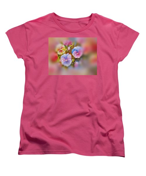 Pansies Women's T-Shirt (Standard Cut) by Patricia Schneider Mitchell