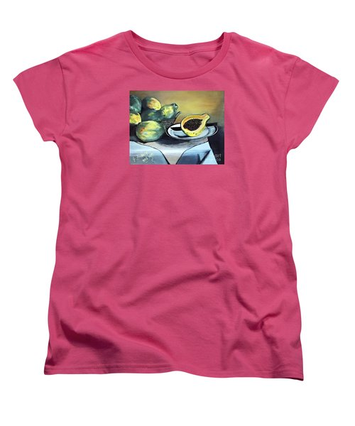 Papaya Still Life Women's T-Shirt (Standard Cut)