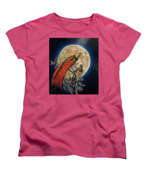 Paradise Birds Women's T-Shirt (Standard Cut) by Nop Briex