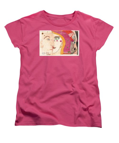 Women's T-Shirt (Standard Cut) featuring the drawing Paranoia by Rod Ismay